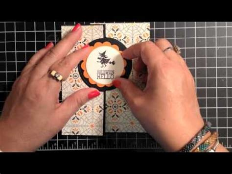 carding tutorial video stin up video tutorial halloween hello card and