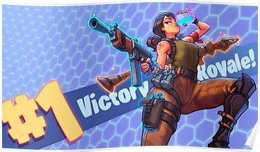 fortnite victory royale fanart poster | fanart, gaming