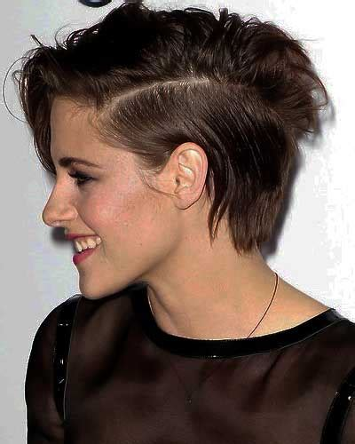 side profile of hairstyles kristen with rock chic messy hair style