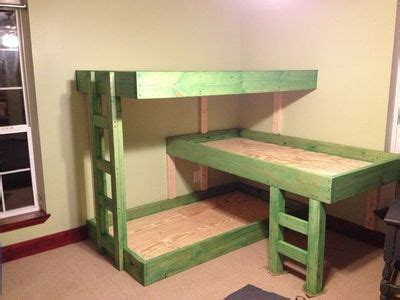 triple bunk bed plans free free plans build twin over full bunk beds waywoodcraft