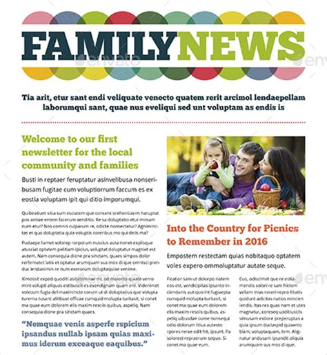 family newsletter template family newsletter templates free