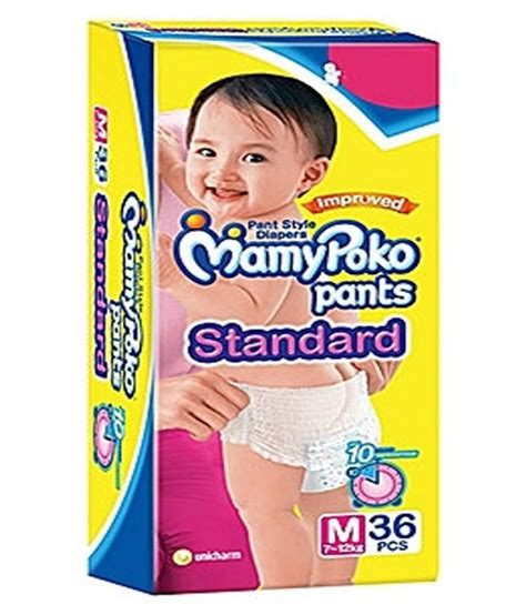 Mamy Poko Standar Size M Isi 3 mamy poko standard pant style medium size diapers 36 count buy mamy poko standard