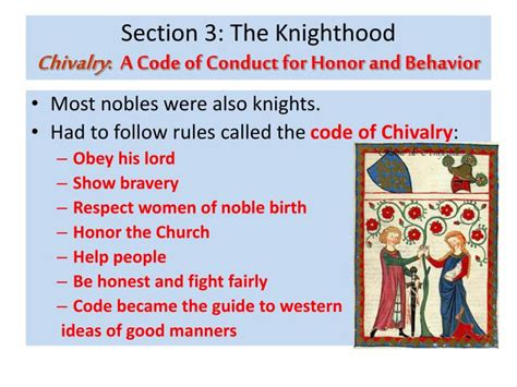 the code of ethics has three major sections ppt chapter 24 feudal society powerpoint presentation