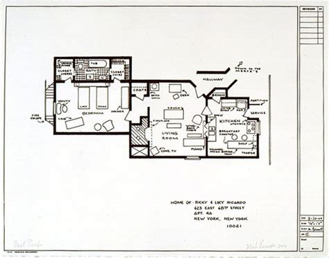 mary tyler moore s famous apartment floor plan floor plans of tv s best homes 15 pics