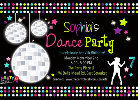 dance party invitations printable free www imgkid com