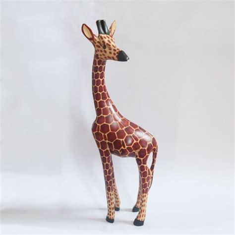 wooden giraffe large cm karibuni children