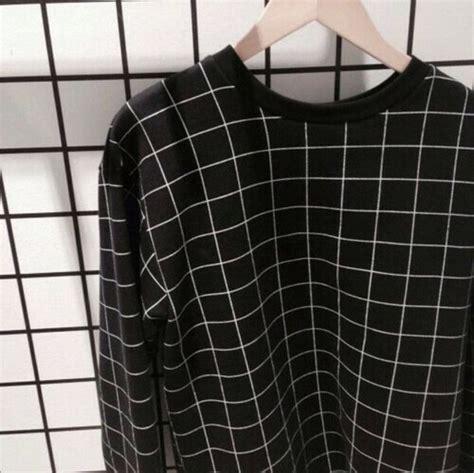 grid pattern jumper sweater black and white grid sweatshirt jacket