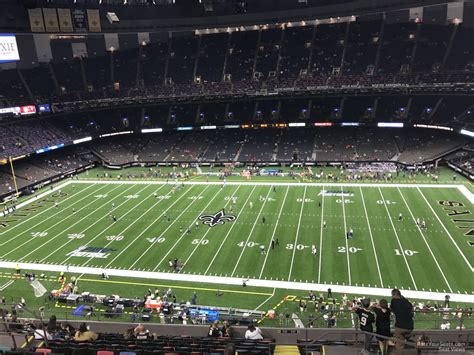 Superdome Sections by Superdome Section 638 New Orleans Saints Rateyourseats