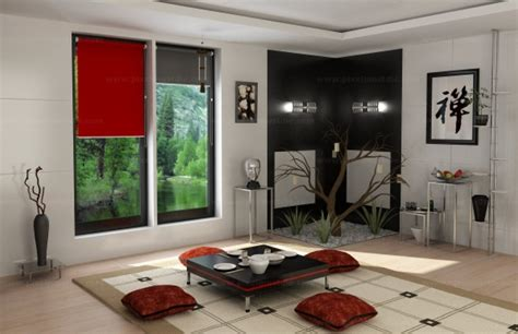 chinese traditional living room interior design 3d