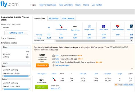 Aa Baggage Fee by 71 Los Angeles To From Phoenix Nonstop R T Fly Com