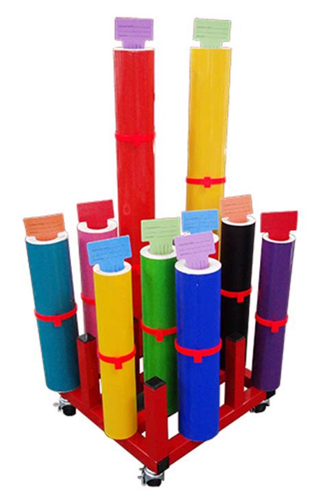 vinyl roll storage rack media racks for sign making tools plastgrommet