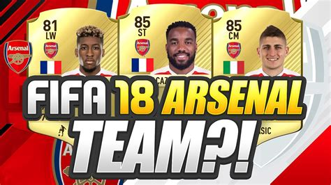 arsenal fifa 18 new fifa 18 arsenal potential team youtube