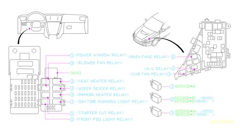 subaru outback relay electrical body box agb