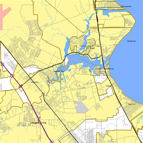 clear lake texas map clear lake texas map