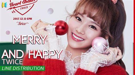 Merry Happy Merry merry happy line distribution
