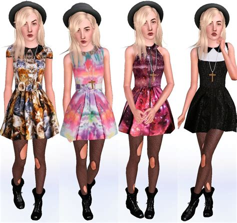 sims 3 outfits sims 4 cc clothes my sims 3 blog 4 flair dresses by