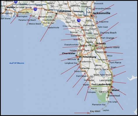 map of the panhandle of florida map of panhandle and west map of florida panhandle gulf coast florida gulf coast map