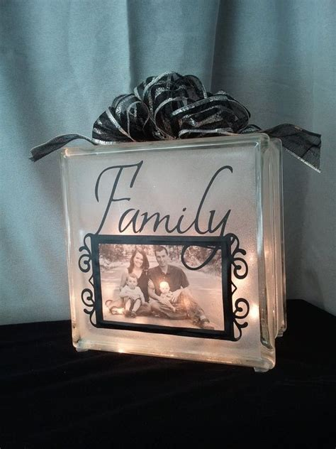 decorative glass blocks with lights decorative glass block night light with photo frame 29
