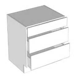 3 Drawer Kitchen Cabinet Brazilian Cherry Shaker Bamboo Three Drawer Base Cabinets