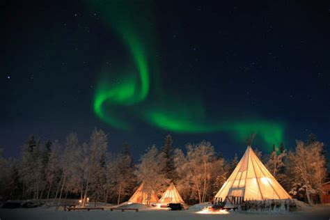 the light of northern fires northern lights yellow knife canada and a