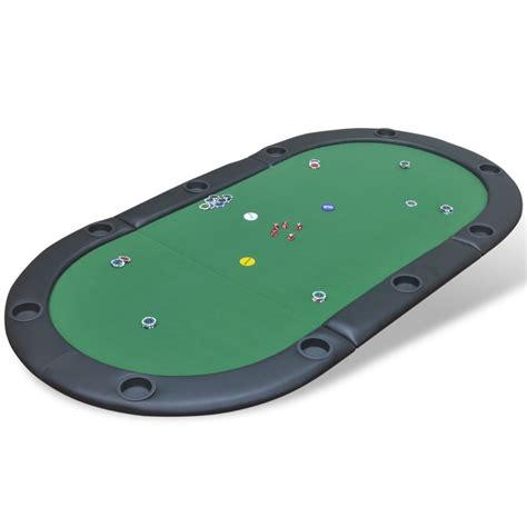 vidaxl co uk 10 player foldable poker tabletop green