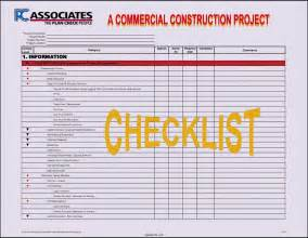 project management list template construction project checklist template template