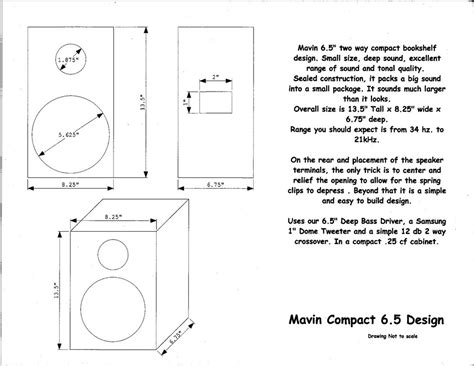 bookshelf speaker plans pdf woodworking