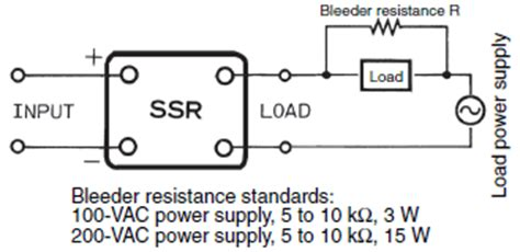 bleeder resistor use faq02155 for solid state relays omron industrial automation