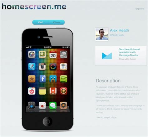 change layout home screen iphone 4 best iphone home screen layout images