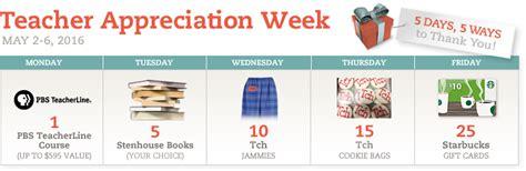 Teacher Giveaways - teacher appreciation week prize winners