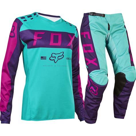 purple motocross gear fox 2017 mx new 180 purple pink seafoam jersey pants
