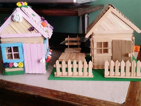casa con palitos de madera manualidades para ni os casitas hechas con palitos de helado manualidades