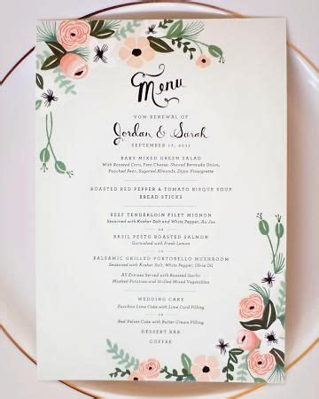menu layout for wedding 195 best wedding menu ideas images on pinterest wedding