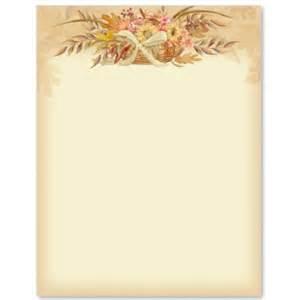 autumn flowers letter paper idea art