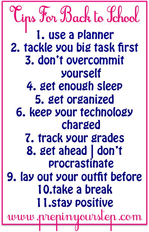 7 Tips Needed For Those Going Back To School by Prep In Your Step Back To School Tips