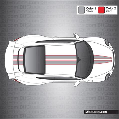 Stripe Top 008 dual color the top racing stripes for porsche 991 gt3