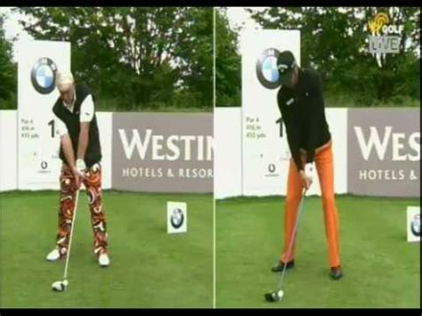 john daly golf swing analysis john daly vs alvaro quiros driver golf swing face on bwm