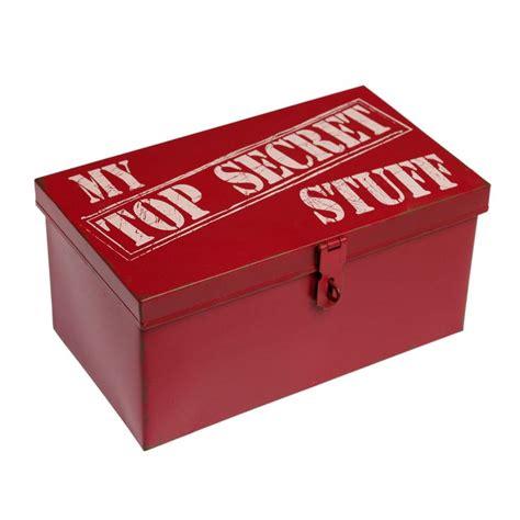secret box metal box top secret dotcomgiftshop cameretta