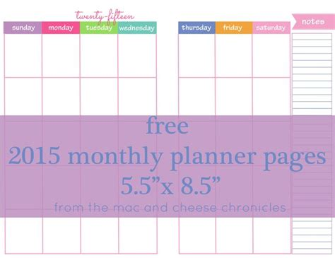 printable monthly family planner 2015 68 best images about memories filofax on pinterest