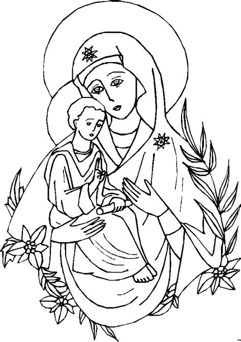 free coloring pages virgin mary mary mother of god catholicsam com coloring pages and