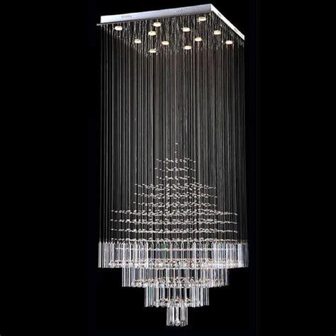 modern crystal ceiling ls byb 174 modern chandelier rain drop lighting square crystal