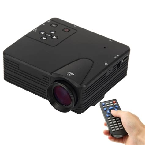 Projector Mini Portable Led Projector Support Hdmi Av Tf Usb Uc18 80 lumens 1080p hd multimedia mini portable led projector