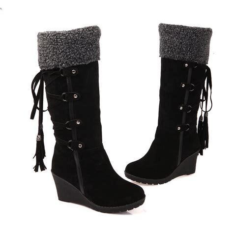 Australia Boots Winter Platform Wedge Heels Knee High Boot Import s faux suede winter knee high boots platform wedge heel lace up shoes size ebay