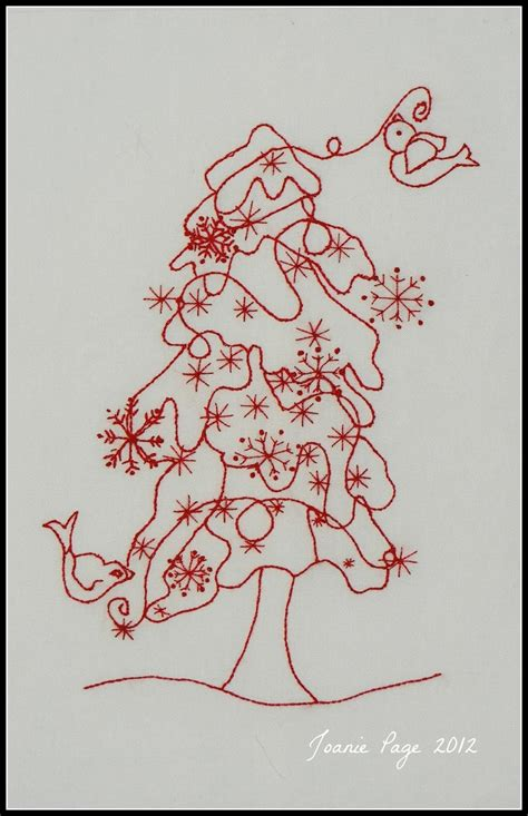christmas tree hand embroidery pattern 205 best christmas embroidery patterns images on pinterest