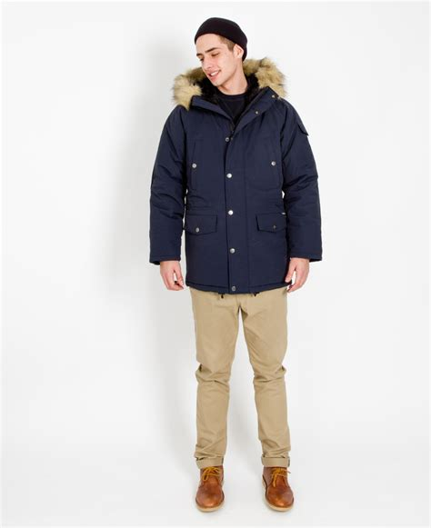 Hoodie Carhartt 07 Jersiclothing carhartt wip anchorage parka navy in blue for lyst