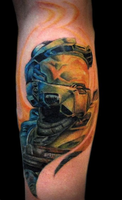 master chief tattoo 8 awesome tattoos for suy sk