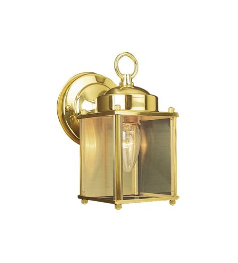 design house 502633 polished brass coach traditional classic 1 light lighting outdoor