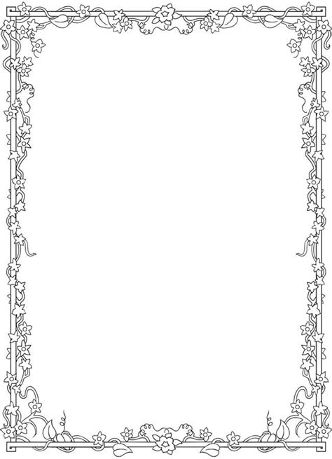 coloring page borders 1000 images about bos coloring blank frames on