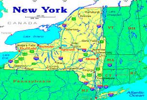 New York Pennsylvania Map by New York