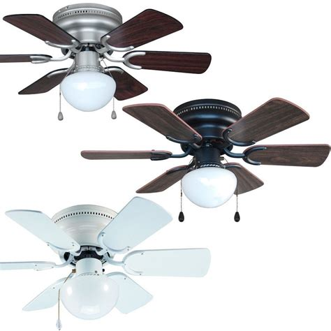 nickel ceiling fan with white blades 30 inch flush mount hugger ceiling fan w light kit satin